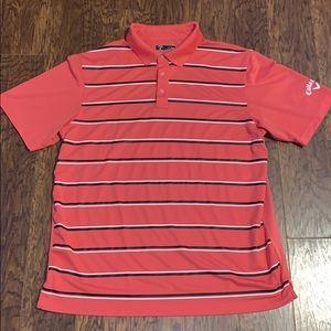 Men's Callaway Striped Golf Polo Shirt Sz XL